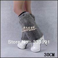 2013 new Autumn Winter  Women Furs Lower Ankle Leg Warmers natural rabbit fur Shoes Boot Sleeves Cover multi colors