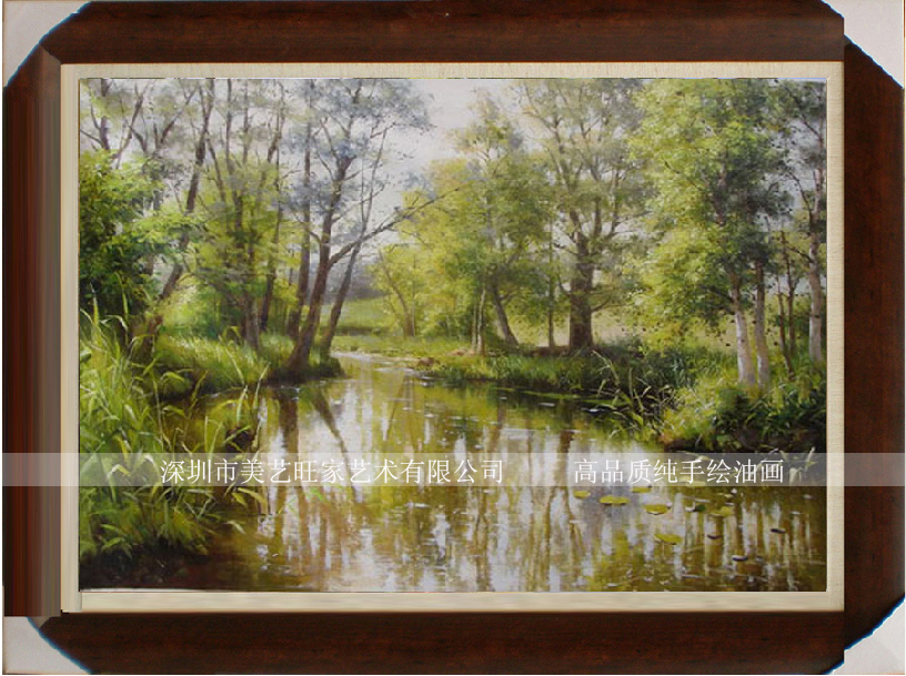 Fashion the scenery oil painting decorative painting oil painting modern arch pure plants and trees oil painting(China (Mainland))