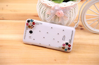 For Xiaomi 2 2s m2 Diamond Mobile Phone Case Rhinestone Colorful Flower Protective Transparent Cover Shell