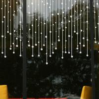 Wall stickers sliding door sofa bathroom entranceway glass stickers bead curtain