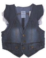 freight free Spring and autumn child vest denim vest children's coat child clothing vest y43
