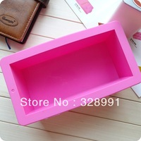 freeshipping silicon Hole rectangular cake mold, Handmade Soap, bread pillow cake mold, 1000ml