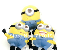 Available! free shipping 3 pcs/lot Despicable ME Movie Minions Plush Toy 18cm 3D eye Jorge Stewart Dave with tags funny toys