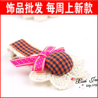 Free Shipping Accessories hair accessory preppy style lace flower hair clips hair pin b10 T