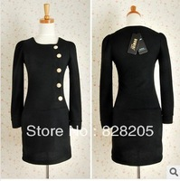 2013 New Arrive Autumn Hot Sale Women Fashion Pure Cotton dress casual sexy dress Free Shipping