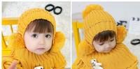 HOT !2013 Autumn & Winter knitted Lovely Flower baby crochet scarf Hats Ear muff cap , winter hats , baby crochet ear hat