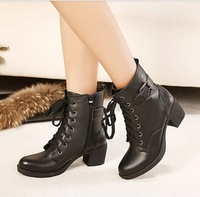 2013 irritably paragraph personality casual buckle decoration lacing thick heel boots 2561 - 2  PPXX