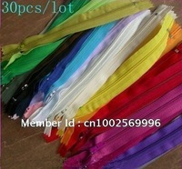 Freeshipping Lot 30pcs 30 Colors Nylon Coil Zippers Tailor Sewer Craft 7""