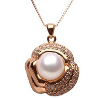 Free shipping Big Shining Pendant Jewelry Rose Gold Plated Fashion in Europe and America