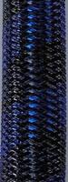 Metallic Black Royal Stripe Tubular Crin  ideal to make cyberlox  fall hair extensions 60 yard