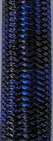 Metallic Black Royal Stripe Tubular Crin  ideal to make cyberlox  fall hair extensions 60 yard