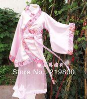 Pink child dance dress female child clothes child dance costume hanfu fairy child