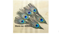 12cmLenghth Eye:2.5-3.5cm 100% Nature Peacock Feather Peacock Feather Eyes100Pcs/Lot free shipping