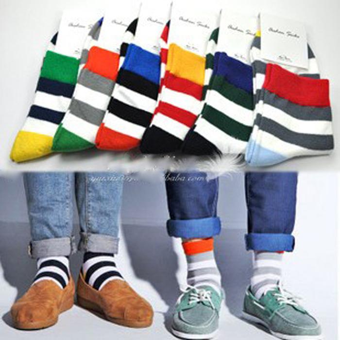 Wholesale mens colorful dress socks