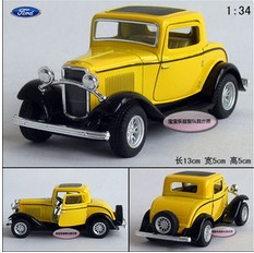 Free shipping holiday sale 13cm FORD 1932 classical classic cars alloy car model gift 1 pc(China (Mainland))