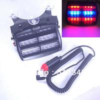 Free Shipping!18 LED Emergency Vehicle Strobe Lights Windshields Dashboard Flash Warning Red/Bule/Amber/White LED POLICE LIGHTS
