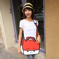 Fedex Free shipping10pcs/lot 3D Jump Style  Drawing From Cartoon Paper Bag Comic 3D Messenger Bag -Doufu bag