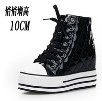 Free shipping/  Increased within 10cm shoes casual shoes Korean wave of high shoes soled Black White