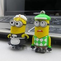 Free shipping,Wholesale Genuine 2GB/4GB/8GB/16GB/32GB Hot sale - Despicable Me 2 model 2.0 Memory Stick Flash Pen Drive LU326