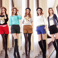 660 woolen shorts women's autumn and winter shorts plus size casual pants boot cut jeans shorts