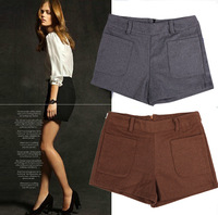 661 autumn and winter woolen shorts pocket casual pants shorts pants shorts with belt