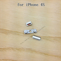 Wholesale price 50pcs / replacement volume / mute / power button for iPhone 4s accessories, free shipping