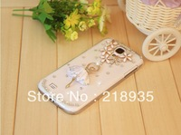 Best quality The dancer girl rhinestone diamond pc hard cases for samsung s4 i9500 i9508