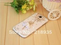 Best quality The dancer girl rhinestone diamond pc hard cases for samsung s4 i9500 i9508