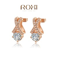 ROXI Christmas  AAA Zircon Stud Earrings,Ladies fashion dinner ornaments,Pure hand made bring you different elegant,2020045595