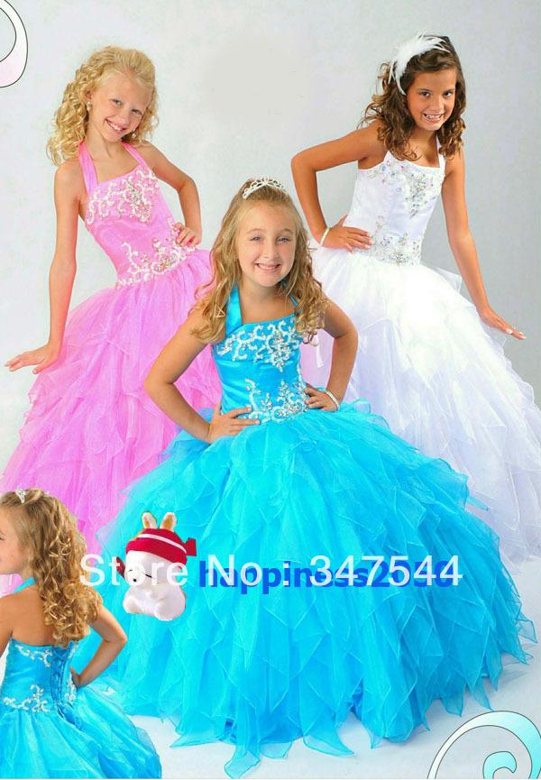 Girl dresses girls pageant dress wedding party dress custom made 2 jpg