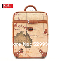 Free shipping,top quality 14inch shockproof brand computer bag,unisex waterproof fashion earth printing pattern daily backpack