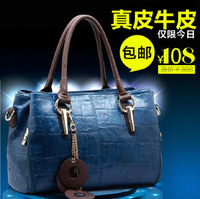 bags retro vintage bag new fashion bags women 2013 genuine leather handbags stone pattern handbag free shipping bag woman