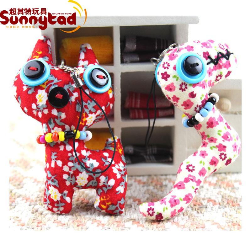 freeshipping Keychain plush toy handmade cloth doll mobile phone rope small hangings juguete brinquedo(China (Mainland))