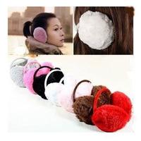 Christmas Fashion Fluffy warm Earmuffs ear winter super belt earmuffs for girls women 2014 hot sale lovely ear accessories