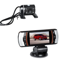 2013 New F90 H.264 Dual Lens Car DVR G-Sensor Full HD 1920x1080p 20FPS 2.7' LCD/HDMI/External IR Rear Camera/Allwinner CPU