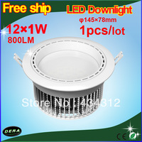 Wholesale 1pcs/lot high power different color high lumens 300lm 85-265v, Crystal lamp led downlight 3w