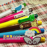 Free shipping(40pcs/lot) stationery cartoon animal ballpoint pen retractable pen ballpoint pen style