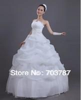 Hotsell!!!White Sexy Off shoulder flower bride wedding sweet princess Slim wedding dresswholesale and retail