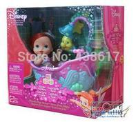 Original Ariel Royal Nursery Mermaid Magic Bathtub Playset Little Mermaid Baby Ariel princess doll toys dolls for children girls