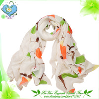 Free Shipping 2013 Autom Newest Women Double-color Matched Chiffon With Printed Scarf /Shawl/Wrap/Pashmina