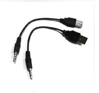 Fast shipping 50pcs/lot USB to 3.5mm audio headphone jack cable Lead,from factory item