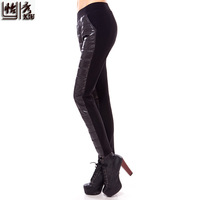 Women's Leggings Winter trousers down comforters Female winter outer wear thick leggings Thick Cotton thin warm pants