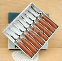 Free Shipping  Woodpecker pmb-308 wooden knife Medium sculpture knife wood carving knife 8 set sculpture tools