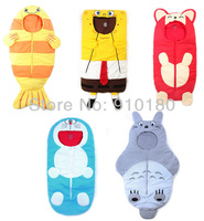 Retail Newborn Baby cartoon animal costume Sleeping Bags Winter warm fleece thickening kids envelope Sleepsacks Infant Fleabag