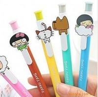 Free shipping(50pcs/lot) Korea stationery dakku yang cartoon ballpoint pen writing pen(00)