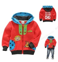 2013 New Arrival Baby Wear Kids Warm Clothing Boys Cartoon Outerwears Sweater Children's Fleece ZIP Coats Jackets Sweatshirts