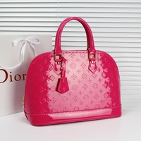 Free shipping Big bag japanned leather women's handbag 2013 red bags shell handbag bag bridesmaid bag the bride married