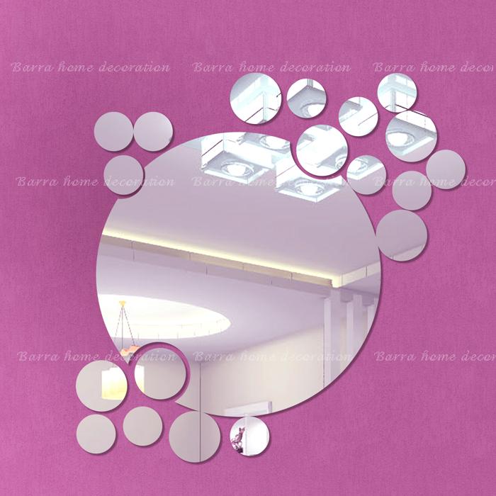 3d pegatinas de pared espejo espejos decorativos grandes y - Espejos pequenos decorativos ...
