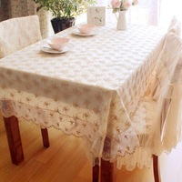 Rustic fashion table cloth round table tablecloth dining table cloth table cloth gold rose