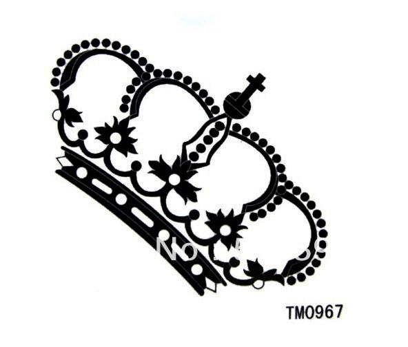 TM0967 tatoo sticker used Princess Crown Drawing Tattoo